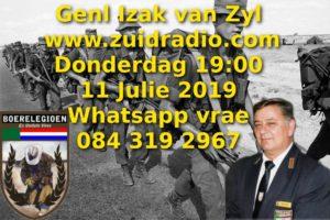 Genl Izak op Zuid Radio